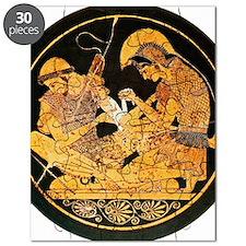 Achilles binding Patroclus' wound Puzzle
