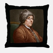Benjamin Franklin (1706-90) Throw Pillow