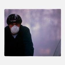 Air pollution Throw Blanket