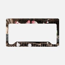 Battery hens in a coop License Plate Holder