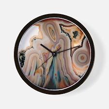 Agate slice Wall Clock