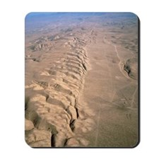 Aerial photo of the San Andreas fault Mousepad
