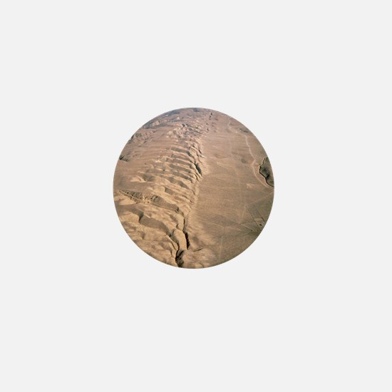 Aerial photo of the San Andreas fault Mini Button