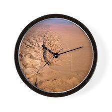 Aerial photo of San Andreas fault Wall Clock