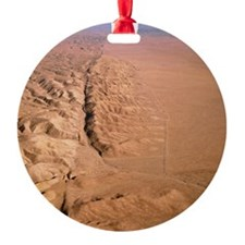 Aerial photo of San Andreas fault Ornament