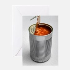 Baked beans in a can Greeting Card
