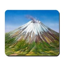 Active stratovolcano Mousepad