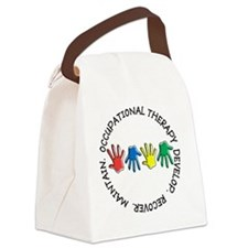 OT CIRCLE HANDS 2 Canvas Lunch Bag