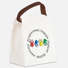 OT CIRCLE HANDS 2 Canvas Lunch Bag