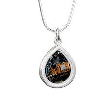 Apollo lunar landing mod Silver Teardrop Necklace