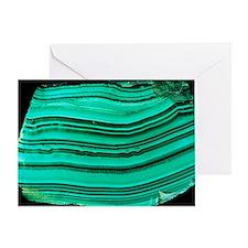 A polished slab of malachite Greeting Card