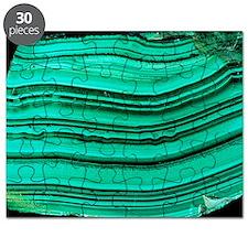 A polished slab of malachite Puzzle