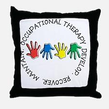 OT CIRCLE HANDS 2 Throw Pillow