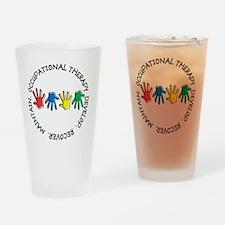 OT CIRCLE HANDS 2 Drinking Glass