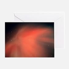 A spectacular aurora borealis displa Greeting Card