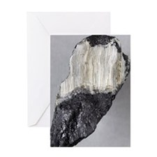 Asbestos mineral Greeting Card