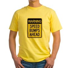 Speed Bumps Ahead Road Sign T