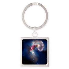 Antennae galaxies, composite image Square Keychain