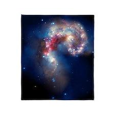 Antennae galaxies, composite image Throw Blanket