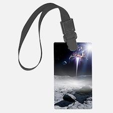 Apollo 11 Moon landing, artwork Luggage Tag