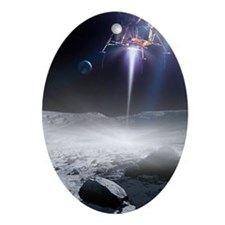 Apollo 11 Moon landing, artwork Oval Ornament