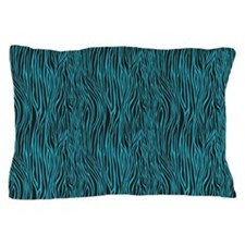 Zebra Blue Black Pillow Case