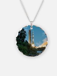 Apollo 16 rocket launch Necklace