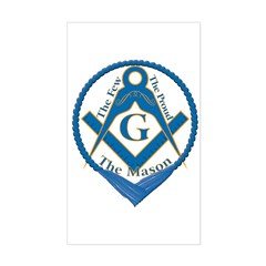 The Few, The Proud, The Mason Sticker (Rectangular
