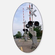 American railroad crossing Decal