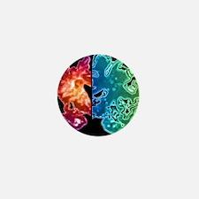 Alzheimer's brain Mini Button