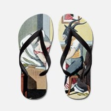 Animal magnetism, satirical artwork Flip Flops