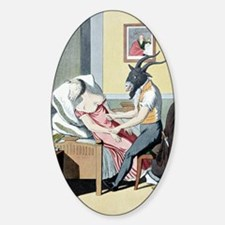 Animal magnetism, satirical artwork Decal