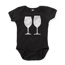 Wine Glass Silhouettes Baby Bodysuit