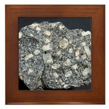 Anorthite in andesite Framed Tile