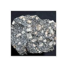 "Anorthite in andesite Square Sticker 3"" x 3"""
