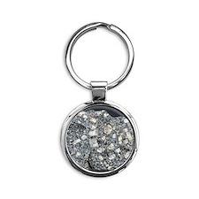 Anorthite in andesite Round Keychain