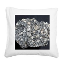 Anorthite in andesite Square Canvas Pillow