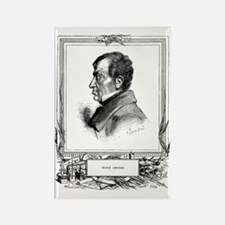 Andre-Marie Ampere, French physic Rectangle Magnet