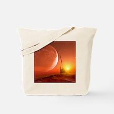 Alien landscape, artwork Tote Bag
