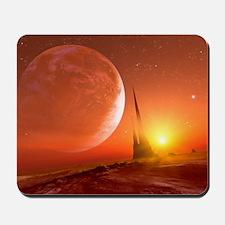 Alien landscape, artwork Mousepad