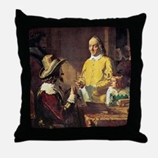 Anatomy and royalty, 17th century Throw Pillow