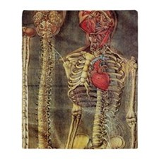 Anatomical model, 18th century Throw Blanket