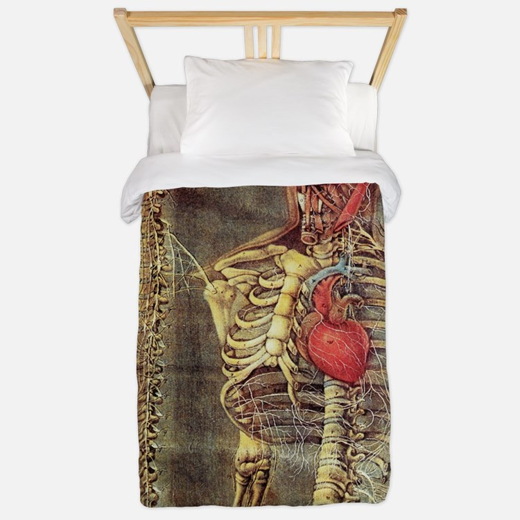Anatomical model, 18th century Twin Duvet