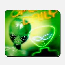 Alien visiting Earth, artwork Mousepad