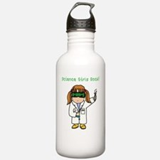Science Girls Rock Water Bottle