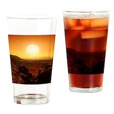 Alien landscape, artwork Drinking Glass