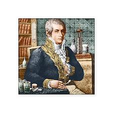 """Alessandro Volta, Italian p Square Sticker 3"""" x 3"""""""