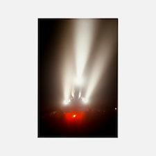 Airliner landing in fog Rectangle Magnet