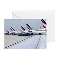 Aircraft at Charles de Gaulle Paris Greeting Card