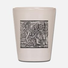 Adoration of the Devil, 17th century Shot Glass